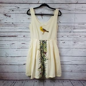 Knitted Dove Sleeveless Dress with Pockets Small